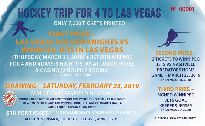 Vegas & Hockey Game Raffle Ticket